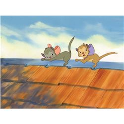 Original cel and background from Banjo The Woodpile Cat