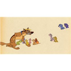 Original production cel from All Dogs Go To Heaven