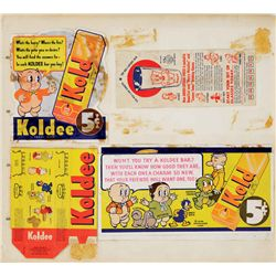 Warner Bros. early Koldee Bar Wrappers
