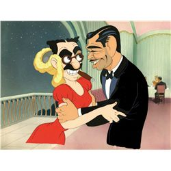 Original production cel and matching background from Hollywood Steps Out