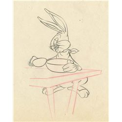 Original production drawing from Bugs Bunny and the Three Bears
