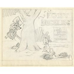 Original publicity lobby card layout from The Foxy Duckling