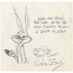 Chuck Jones signed original layout drawing from Compressed Hare