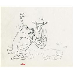 Original production drawing of the Tazmanian Devil from The Bugs Bunny Show