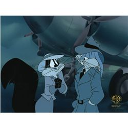 Original production cel featuring Bugs Bunny and Penelope as Kitty from Carrotblanca