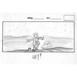 Eight Iron Giant original storyboard drawings