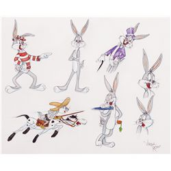 Bugs Bunny model sheet style original drawing by Virgil Ross