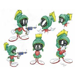 Marvin the Martian original model sheet style drawing by Virgil Ross