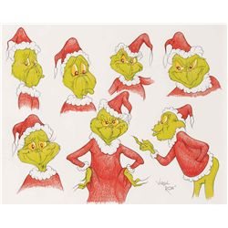 How the Grinch Stole Christmas original model sheet style drawing by Virgil Ross