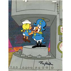 Jay Ward signed production cel from a Captain Crunch cereal commercial