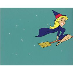 Original Bewitched animation cel from opening sequence of TV series