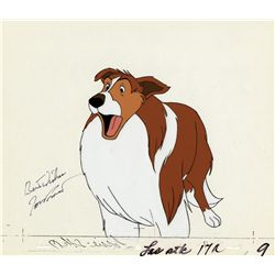 Jon Provost signed production cel of Lassie