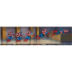 Captain America original production cels and production background