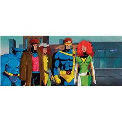 X-Men original production cel and production background