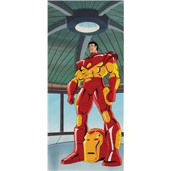 Iron Man original production cel and production background