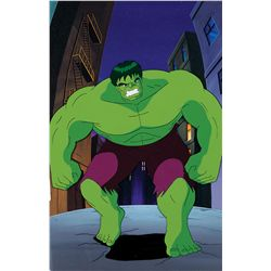 The Incredible HULK ORIGINAL production cel and production background