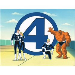 The Fantastic Four original production cel and production background