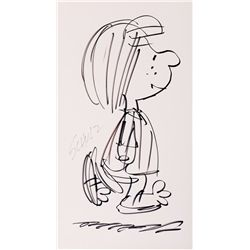 Oversized Charles Schulz original drawing