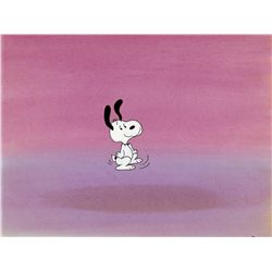 Original production cel and production background from Snoopy: The Musical