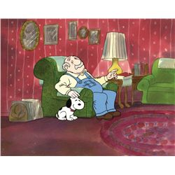 Production cel on production background from Snoopy's Reunion