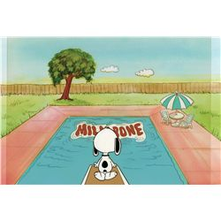 "Original production cels and production background from a ""Milkbone"" TV Commercial"