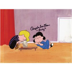 Signed original production model cel from Peanuts