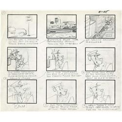 "Complete original storyboard for the Huckleberry Hound episode ""Huck's Hack"""