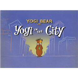 "Original production title cel and production background from ""Yogi In The City"""