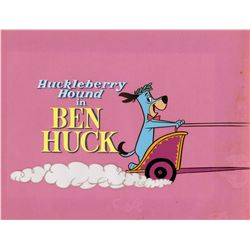 "Original production title cel and production background from ""Ben Huck"""