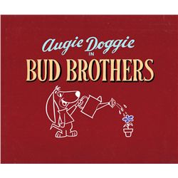 "Original title cel and background for the Augie Doggie episode ""Bud Brothers"""