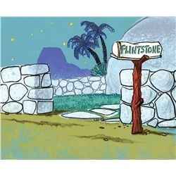 Original production background from The Flintstones