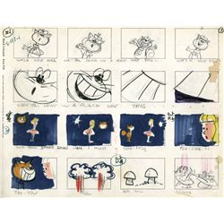 Rare bound volume of storyboards for musical numbers for The Flintstones and Alice in Wonderland