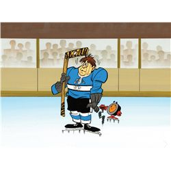 Peter Puck original hand-painted cel and original hand-painted production background