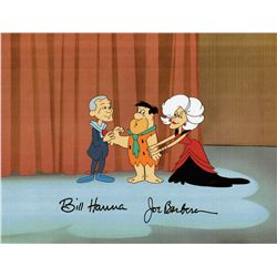 Bill Hanna and Joe Barbera Signed production cel from The Jetsons Meet the Flintstones