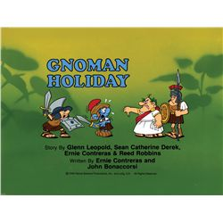 "Smurfs original production title card for the episode ""Gnoman Holiday"""