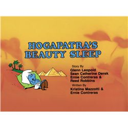 "Smurfs original production Title Card for the episode ""Hogapatra's Beauty Sleep"""