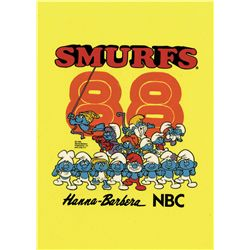 Smurfs 1988 t-shirt design original hand-painted cel
