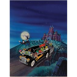 Gravedale High original hand-painted cel and hand-painted background