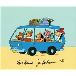 """Yogi and Friends on a Bus"" hand-painted artist's proof limited edition cel"