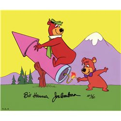 """Yogi on a Rocket"" hand-painted artist's proof limited edition cel"