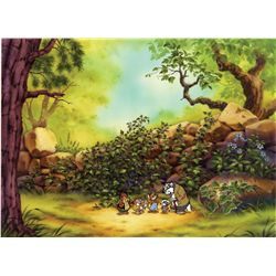 Once Upon A Forest original hand-painted cel with original hand-painted background