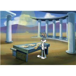 Two original production cels featuring the Roadrunner and Bugs Bunny