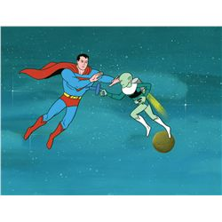 Three original production cels featuring Superman