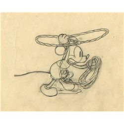 Original production drawing of Mickey Mouse