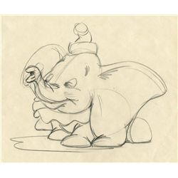 Original rough animation drawing of Dumbo