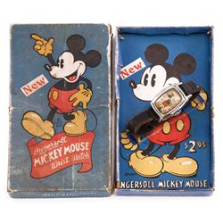 1938 Mickey Mouse wristwatch in box
