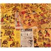 Image 1 : Lot of 1934 Post Toasties cereal box backs with Disney Mickey Mouse theatrical short themed cutouts