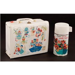 "Disney ""It's A Small World"" Lunch box with thermos – unused"