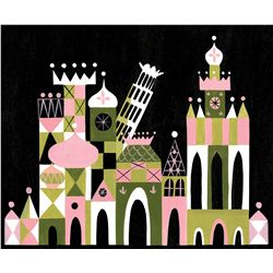 "Mary Blair original concept painting from Disneyland for ""It's a Small World"""
