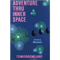 "Original hand-silkscreened poster for the Disneyland ""Adventure Thru Inner Space"" attraction"